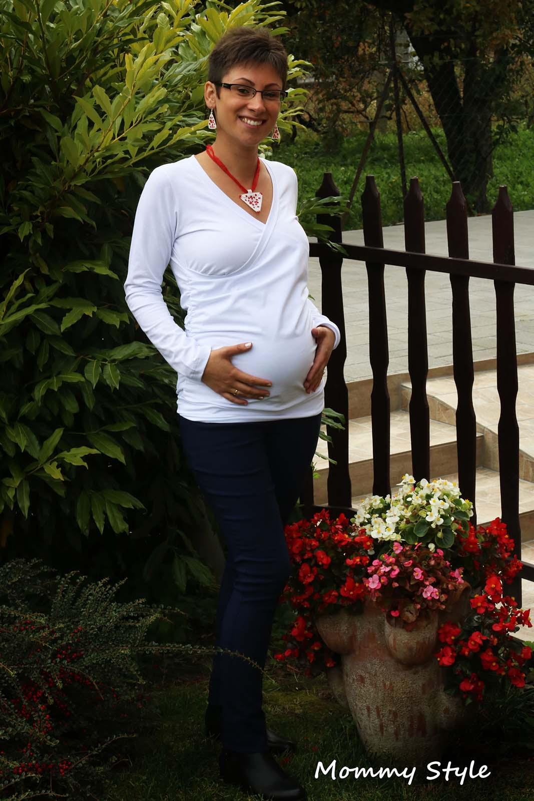 f532d06a20 Mommy Style | Átlapolt szoptatós kismama felső