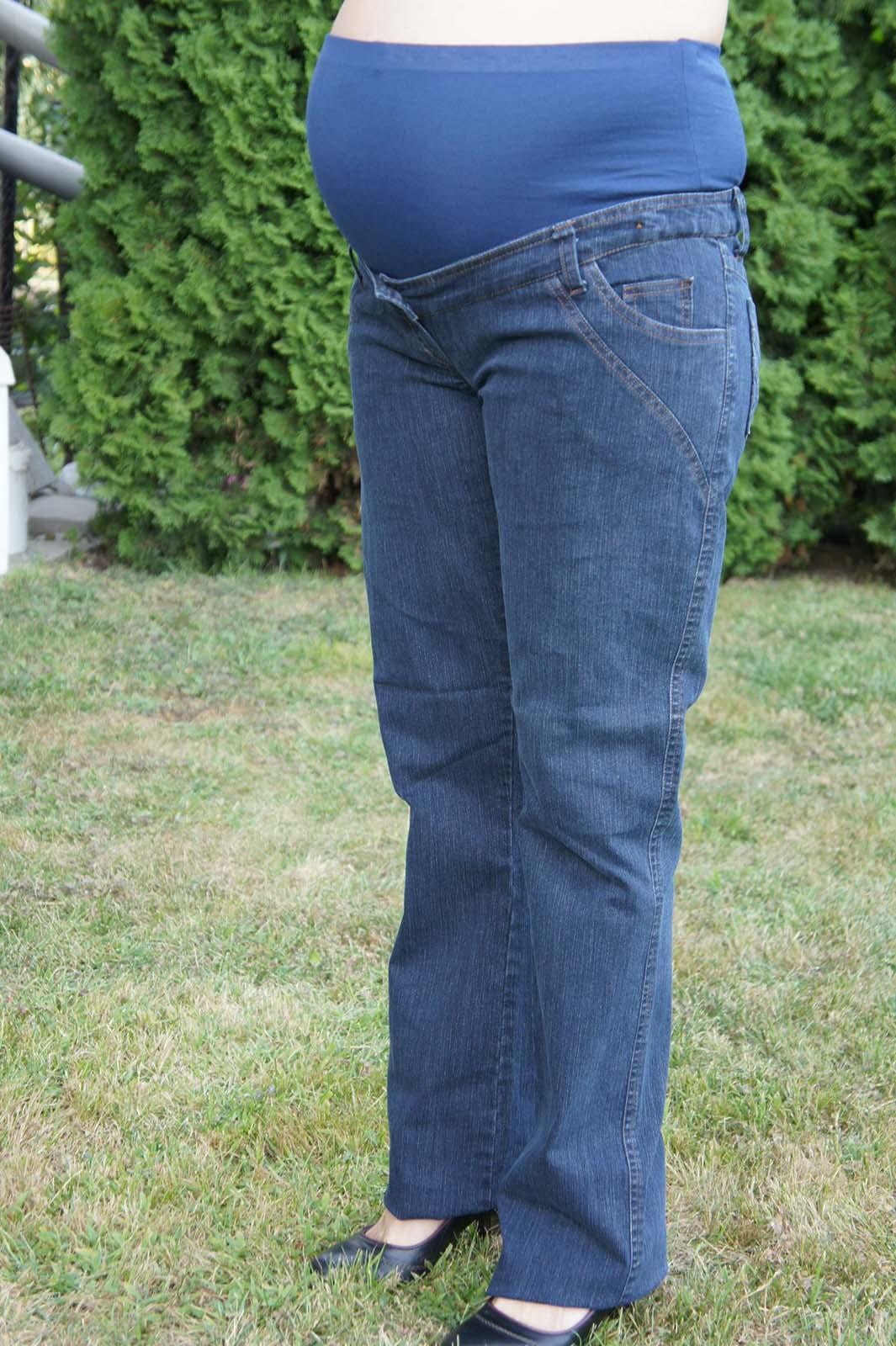 Mommy Style egyenes szárú kismama farmer nadrág