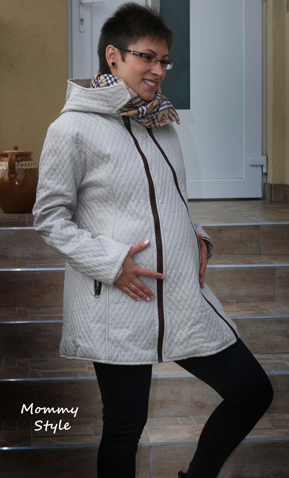 Mommy Style elől betétes kismama kabát