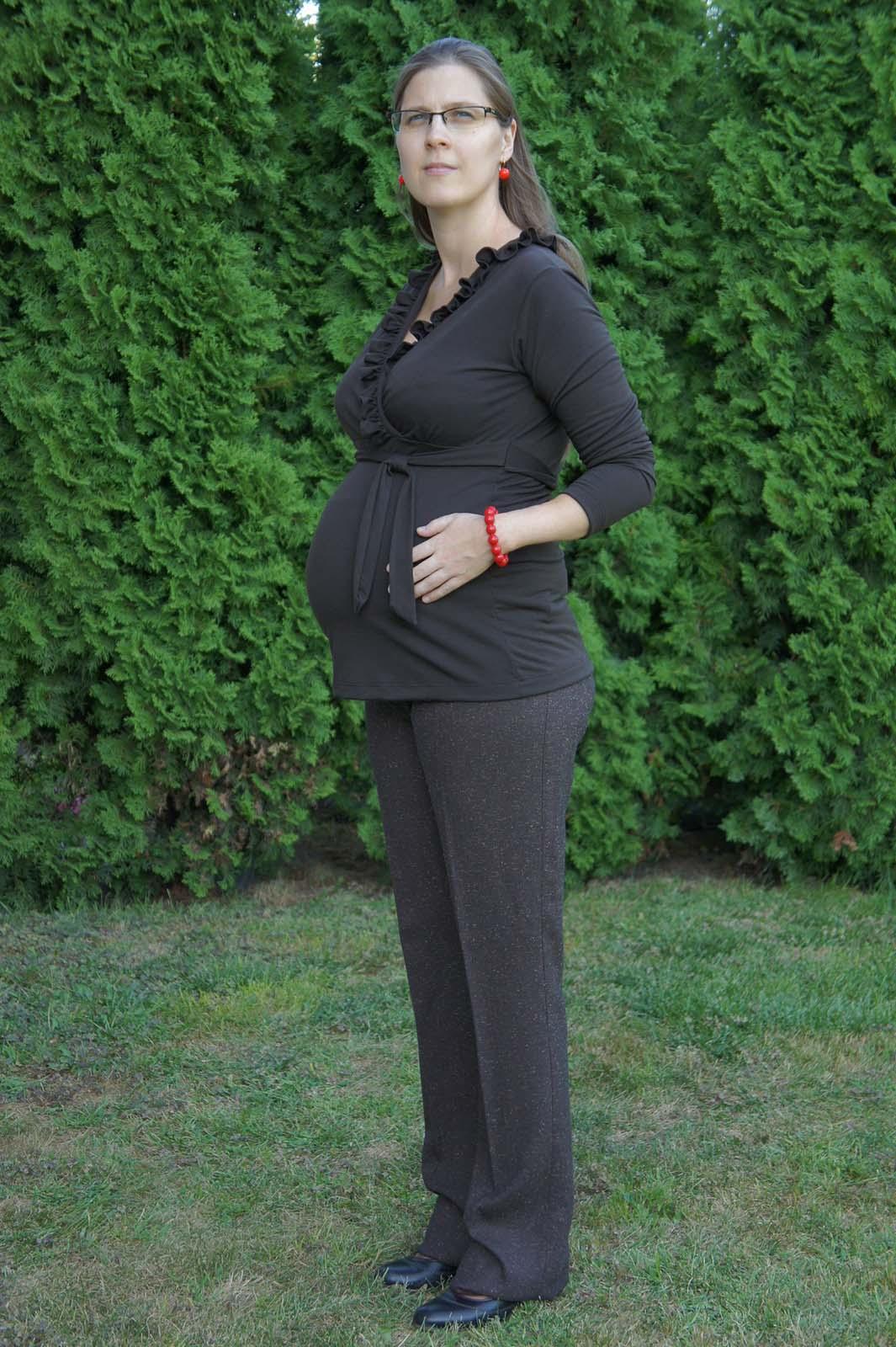 Mommy Style moppos élére vasalt kismama nadrág