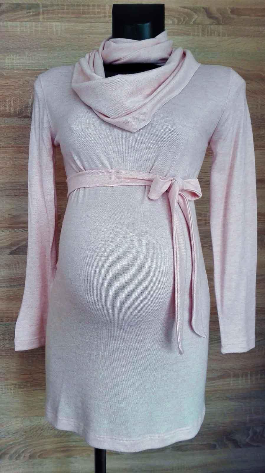 Mommy Style kismama kötött tunika sállal