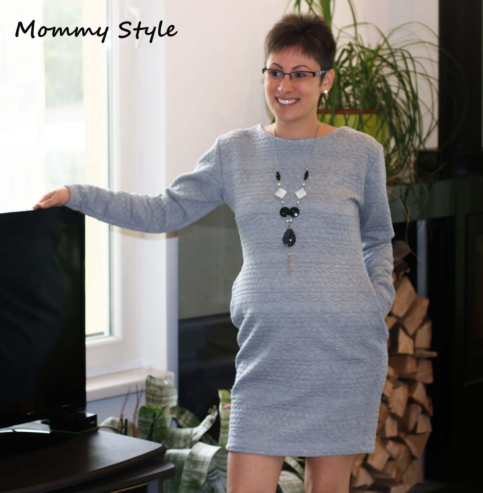 Mommy Style vastag zsebes kismamaruha