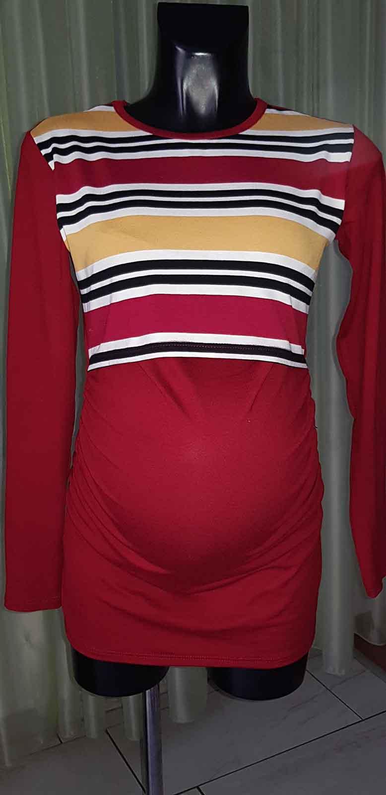 Mommy Style csíkos szoptatós tunika