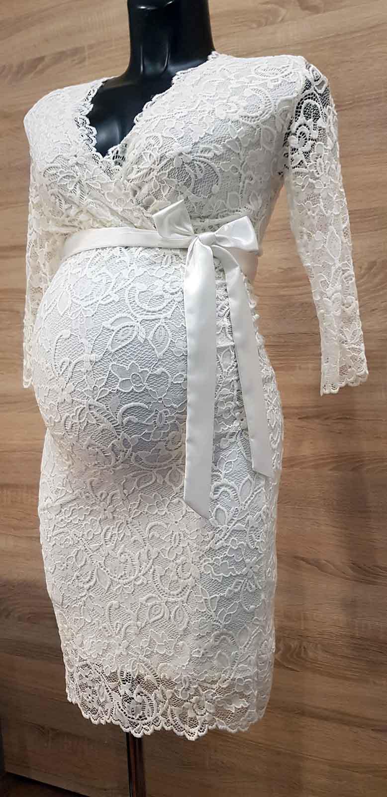 Mommy Style átlapolt csipke mennyasszonyiruha